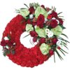 Based Wreath in Red