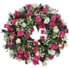 Loose Wreath in Fuchsia Pink